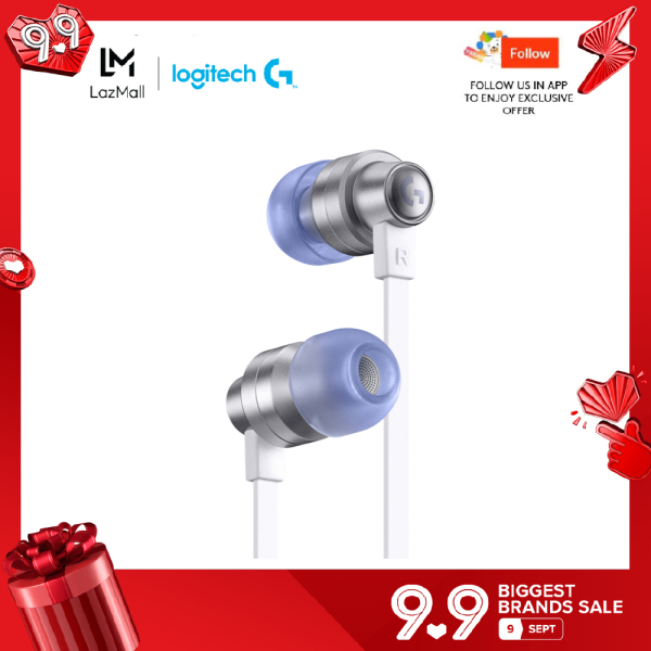 Logitech G333 Gaming Earphones with dual audio drivers, in-line mic and volume control, compatible with PC/PS/Xbox/Nintendo/Mobile with 3.5mm Aux or USB-C Port
