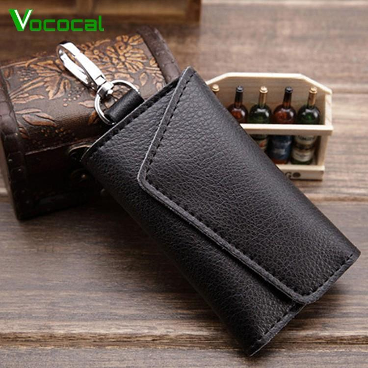 4bb8b55ad25d Multi-functional Genuine Leather Folding Door Key Electronic Key Holder Bag Credit  Card Coins Cash