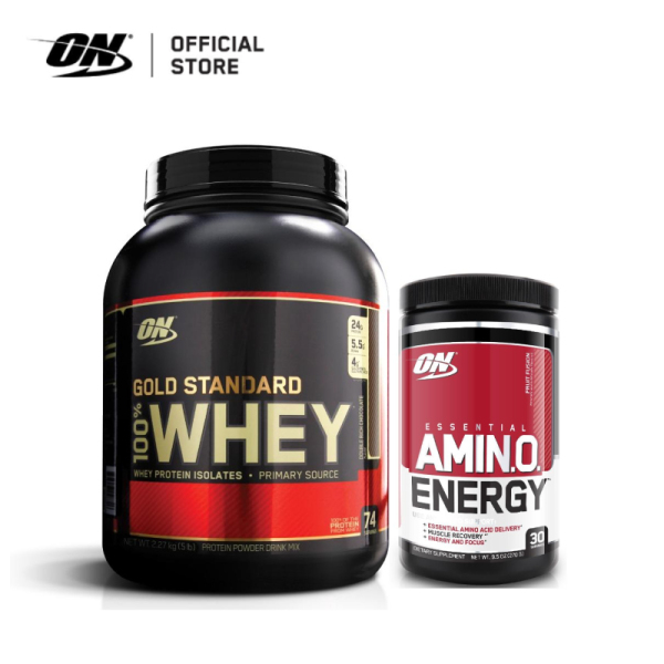 Buy Optimum Nutrition Gold Standard Whey 5 lbs DRC + Amino Energy Fruit Fusion 270g Singapore
