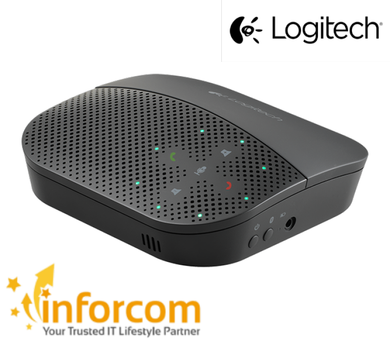 Logitech P710e Mobile Speaker phone Instant Video Call Conferencing Skype for Business Google Hangout Lync P710 710 710e Speakerphone ( Play Games Music Audio Work From Home, Home Based Learning ) Singapore