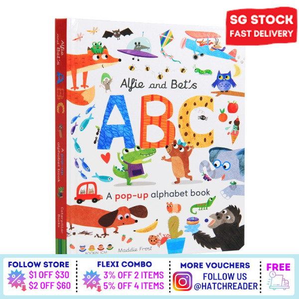 [SG Stock] Alfie and Bets ABC: A Pop-up Alphabet Book English book Interactive 3D for children kids baby toddler 0 1 2 3 4 5 6 years old - learning words early education phonics