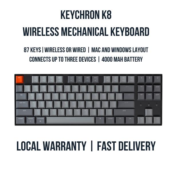 Keychron K8 Tenkeyless Wireless Mechanical Keyboard