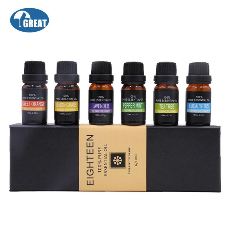 Buy GoodGreat Essential Oils Gift Set,Top 6 Aromatherapy Oils Orange Lavender Tea Tree Peppermint Eucalyptus Lemongrass ,10ml - intl Singapore