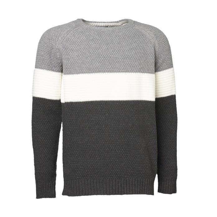 Universal Traveller Men Colour-Blocking Knitted Sweater - Ks8107 By Universal Traveller.