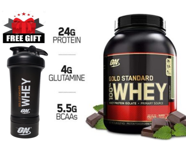 Buy Optimum Nutrition Gold Standard Whey Protein (Select Flavor and LB size) Free Optimum Nutrition Shaker Bottle  FREE Shipping 2-3 Days by Racepack Singapore