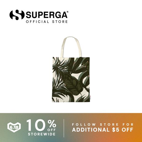Superga Fantasy Tote Bag in Grey Urban Plants