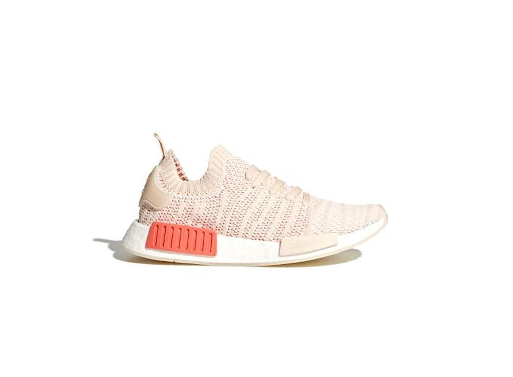 8dbe8edb90ff0 adidas Originals NMD R1 STLT Primeknit Womens CQ2030 Linen   Crystal White    Cloud White