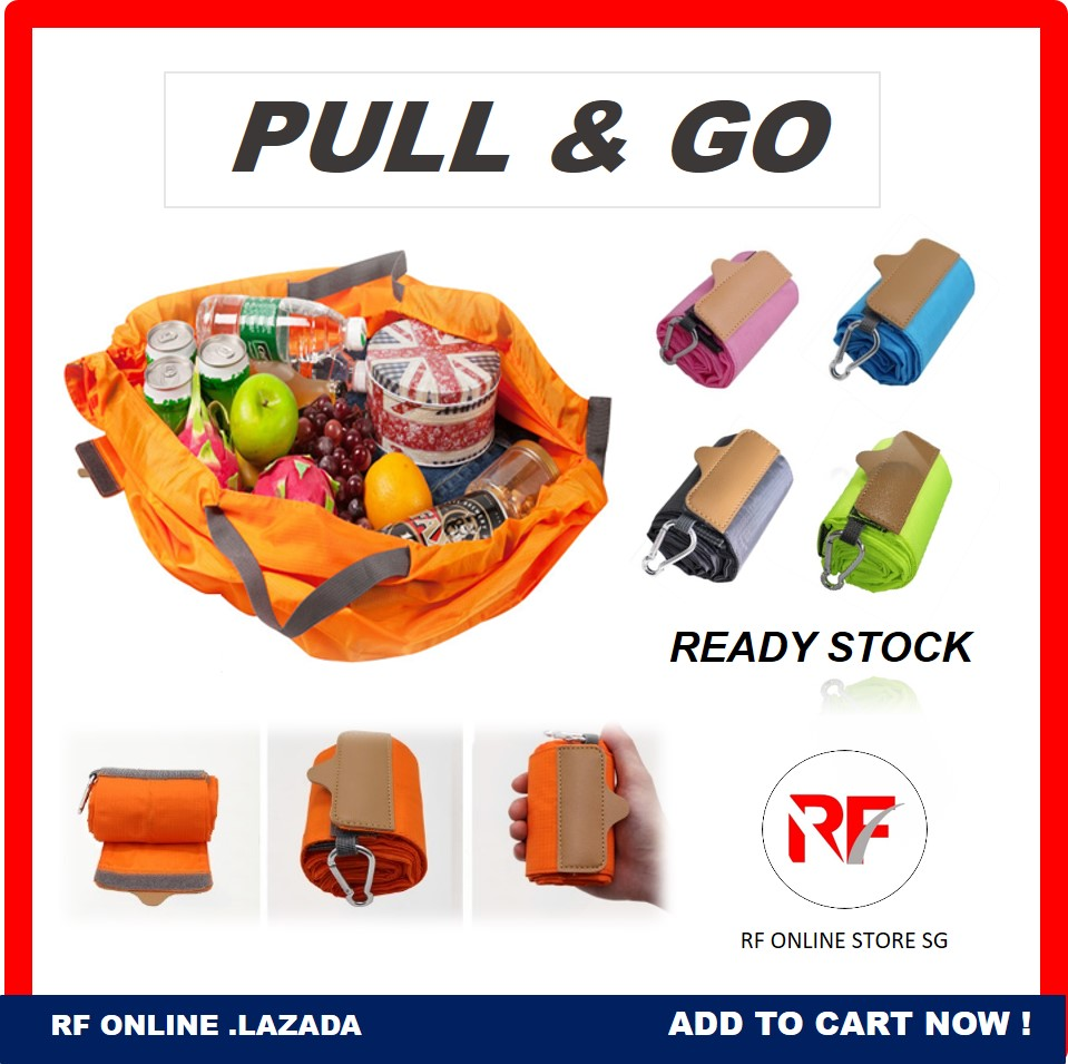 Foldable Shopping Bag Eco Recycle Reusable Washable Travel Supermarket Basket Grocery Heavy Duty Large Capacity Carry Up To 15kg Durable Portable Widely Tote Bag Colors Grey Orange Blue Pink.