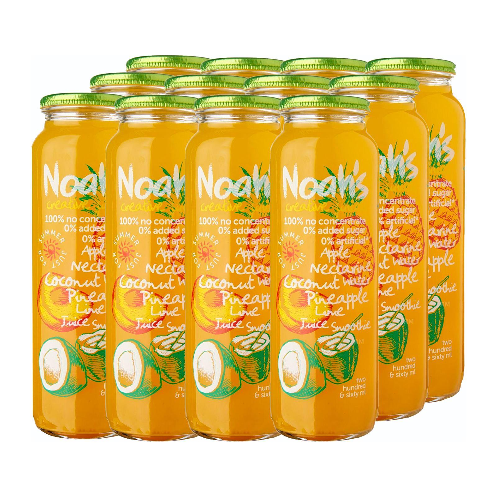 Noah's Apple Nactarine Coconut Water Pineapple Lime - Case
