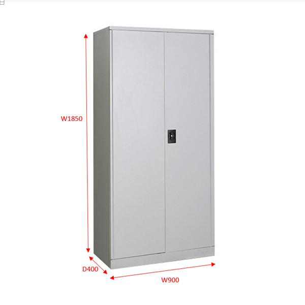 Steel Cupboard  Full Height Metal Swing Door Cabinet (Grey)  Model UW18 Baycus  3 Adjustable Shelves Metal Swing Door Cabinet