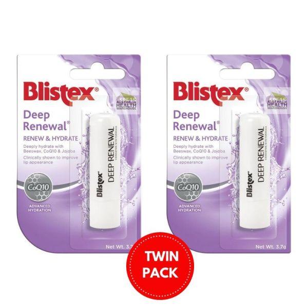 Buy Blistex Deep Renewal Moisturise and Revitalise Lip Treatment SPF25 3.7g (2pcs) Singapore