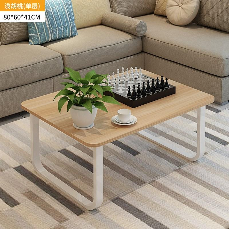 KAILONG Natural Detox You Mini Small Tea Table Simple Small Apartment Home HYUNDAI Side Table White Square Coffee Table Economy