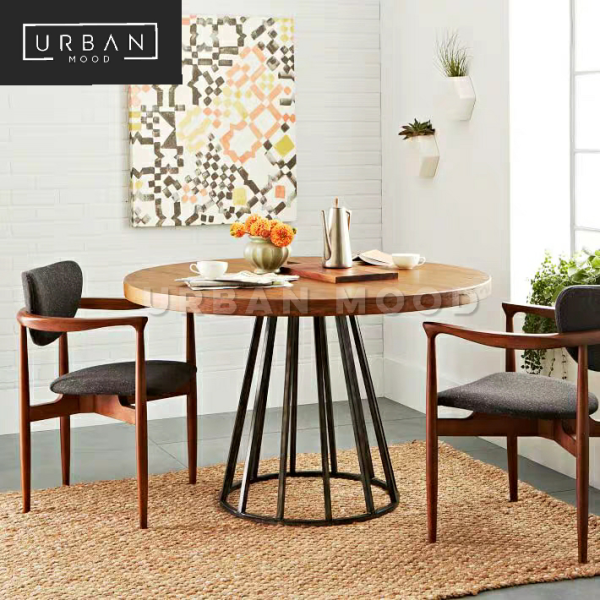 [Pre-Order] ROCCO Industrial Solid Wood Dining Table