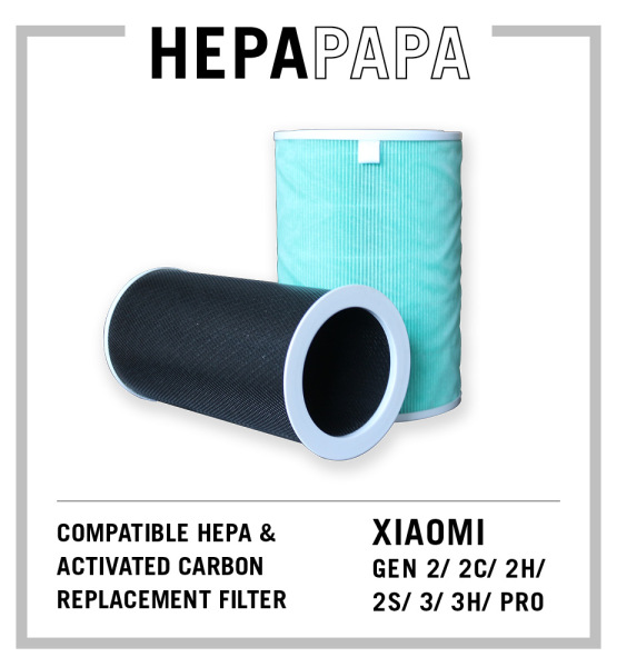 Xiaomi 2 2C 2H 2S 3 3H Pro Compatible Replacement Filter Green Version Formaldehyde Filter with RFID [HEPAPAPA] Singapore