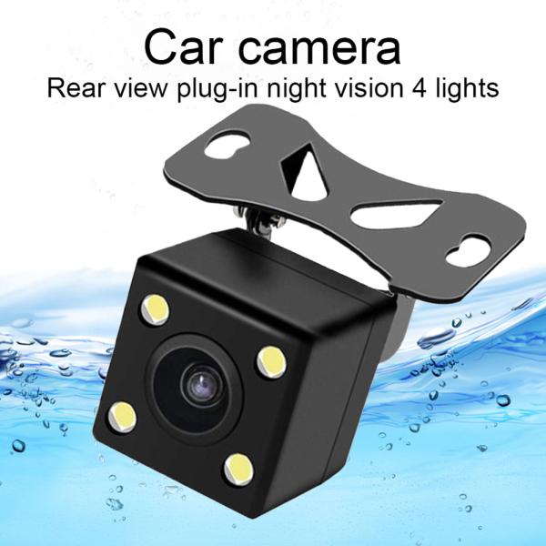 Camera Lùi Xe Hơi Thông Dụng 4 Đèn LED Chiếu Hậu Nhìn Đêm Phụ Kiện Ô Tô