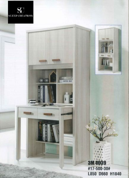 Fleur Study Table with Shelving