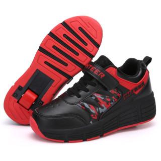 Giày Bánh Xe Hai Bánh Xe Tàng Hình Học Sinh Nam Nữ Trẻ Em Giày Patin Tự Động Có Thể Nhận Được Giày Trượt Tuyết Người Lớn Biến Dạng Giày Bánh Xe thumbnail