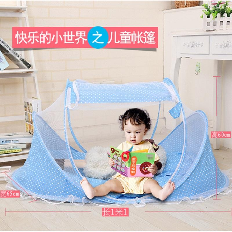 2019 Baby Infants Portable Baby Bedding Crib Cot Folding Kelambu Nyamuk Mosquito Net Infant Travel Beds + Free Pillow - Intl By Wonderful U Store.