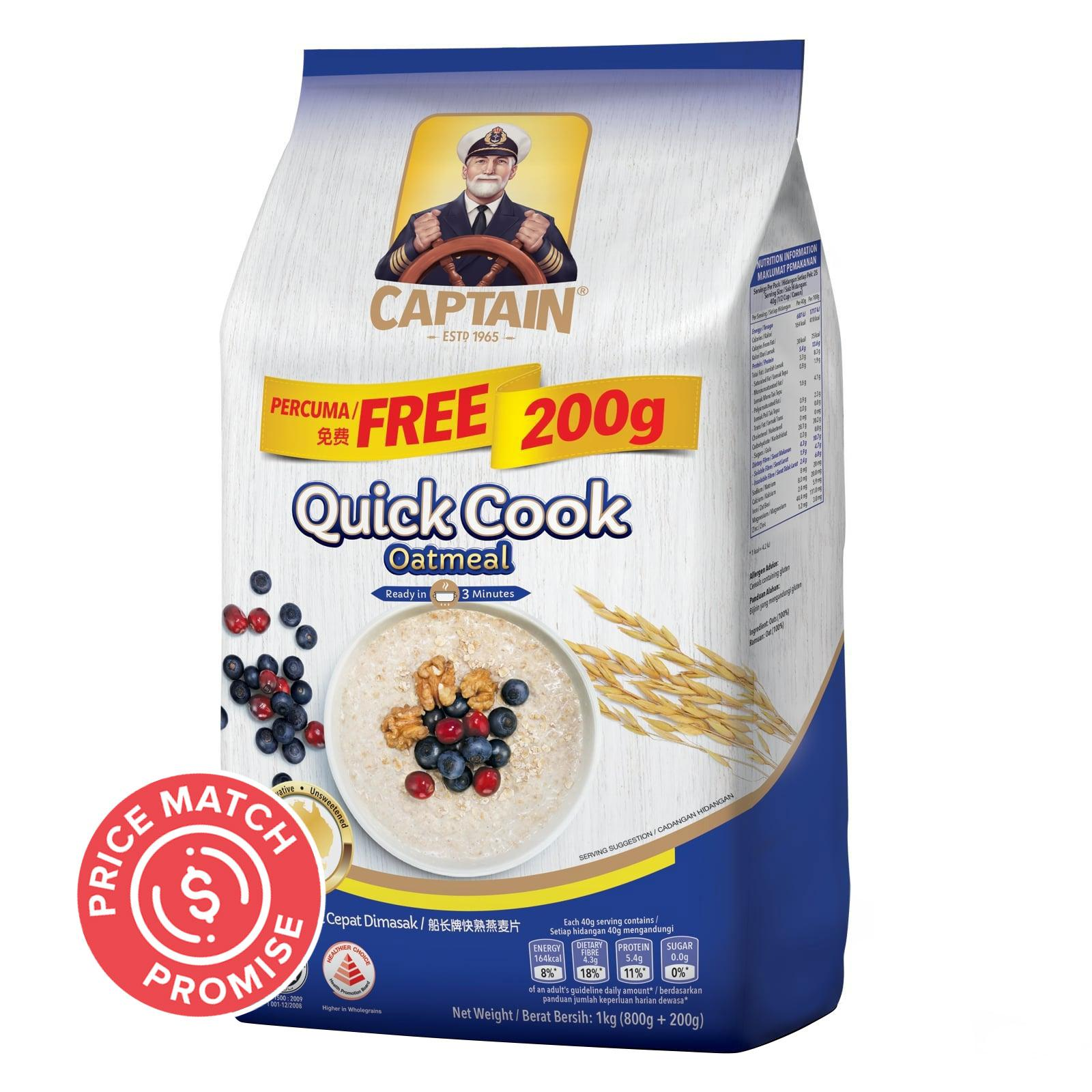 Captain Oats Quick Cook Oatmeal Refill Pack