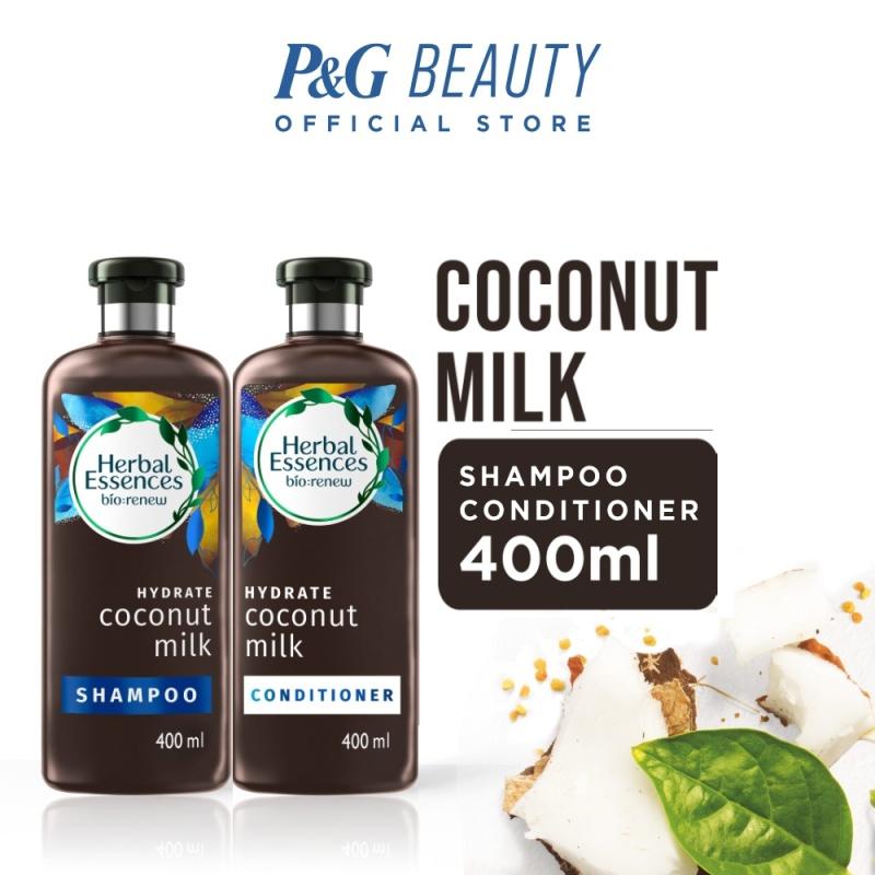 Buy [Bundle of 2] Herbal Essences Bio: Renew Hydrate Coconut Milk Shampoo 400ml + Conditioner 400ml Singapore