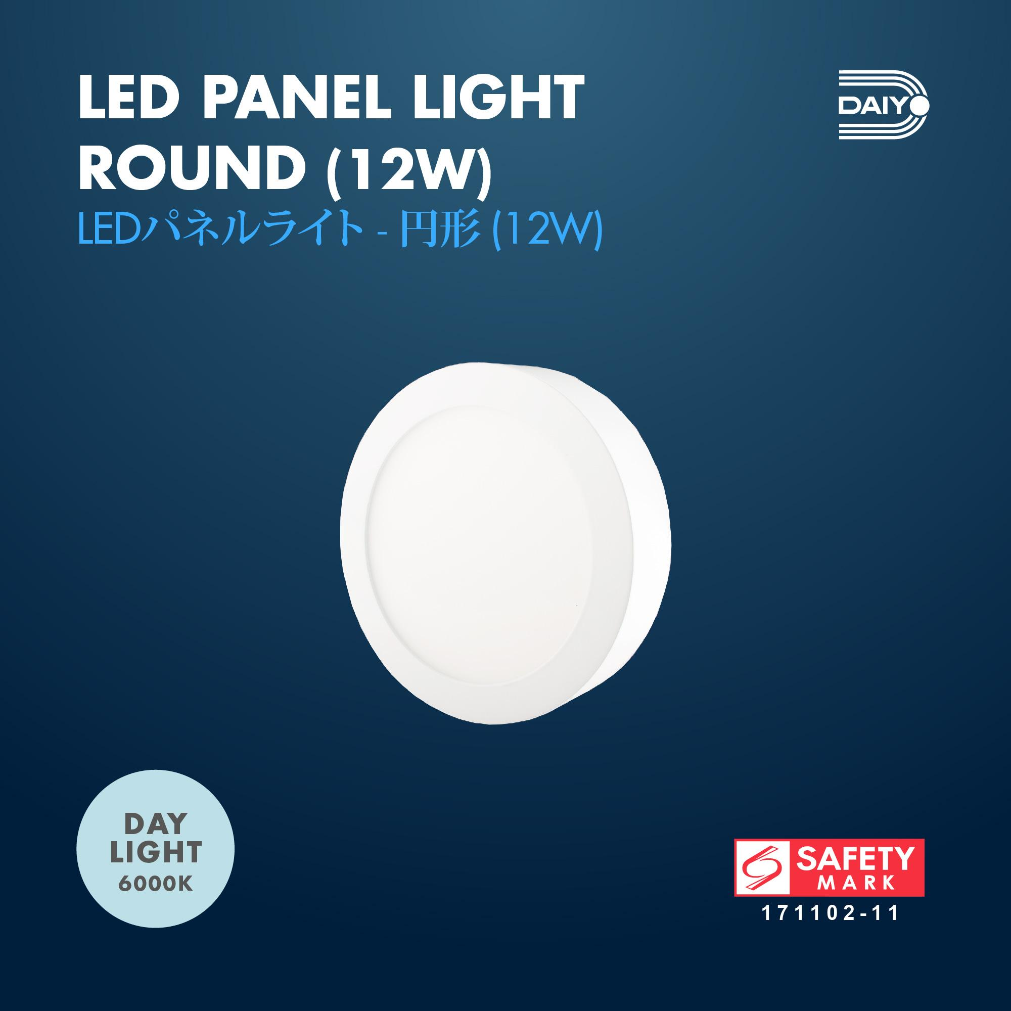 12W LED Surfaced Panel Light Round Shape (Day Light)