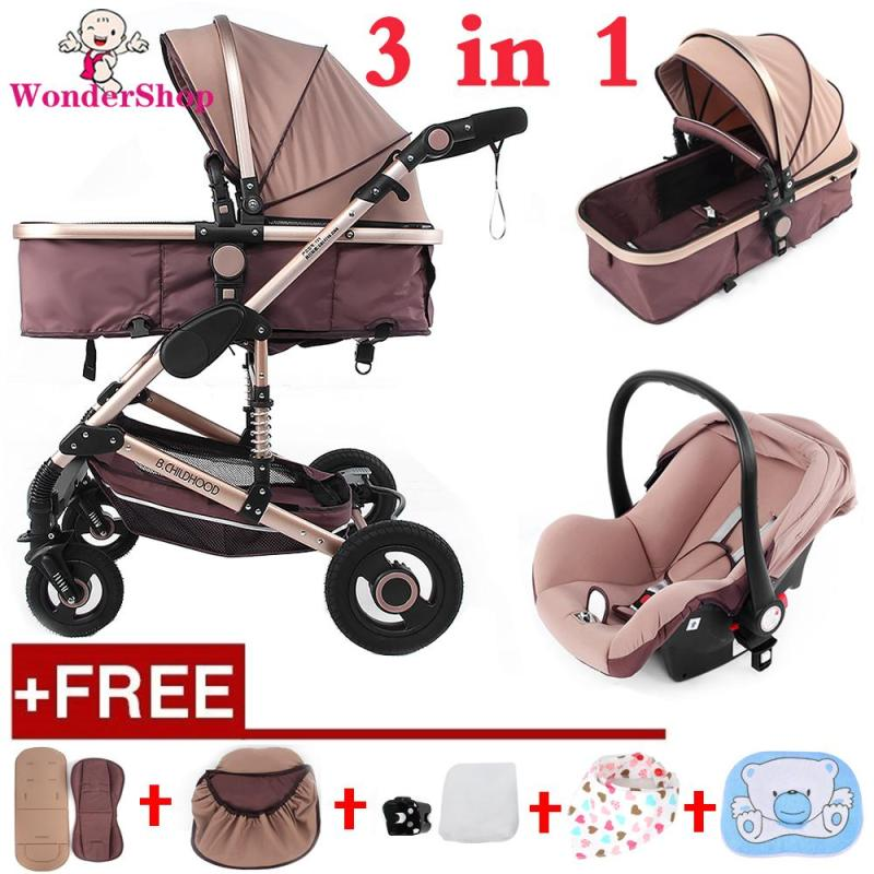 【Free Gift 】Multi-Function Folding Infant Baby Stroller Carriage with Adjustable Backrest 3D Shock-Proof Singapore