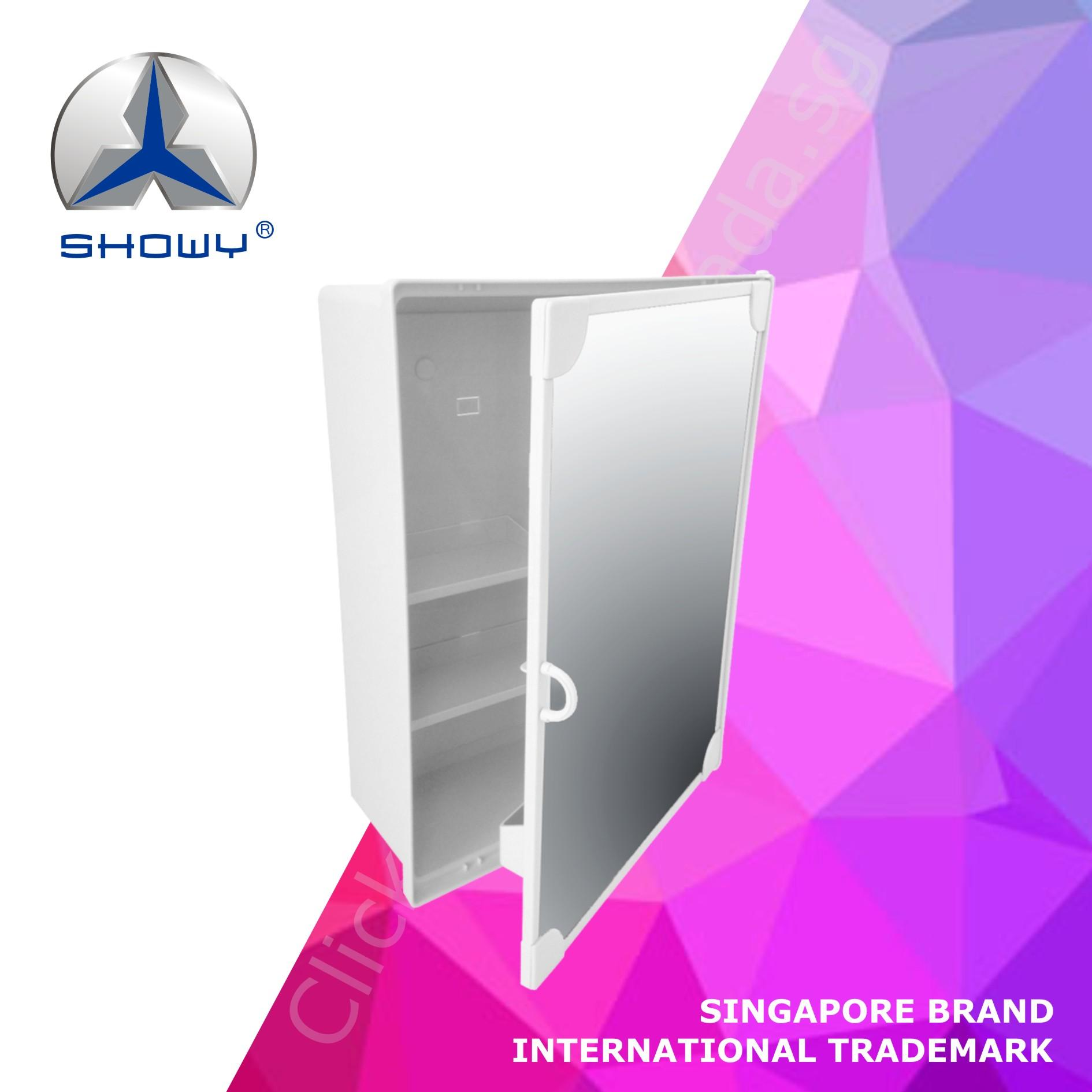 Showy Multi-Purpose Mirror Cabinet (white) (a Singapore Brand) By Clicking Hut.