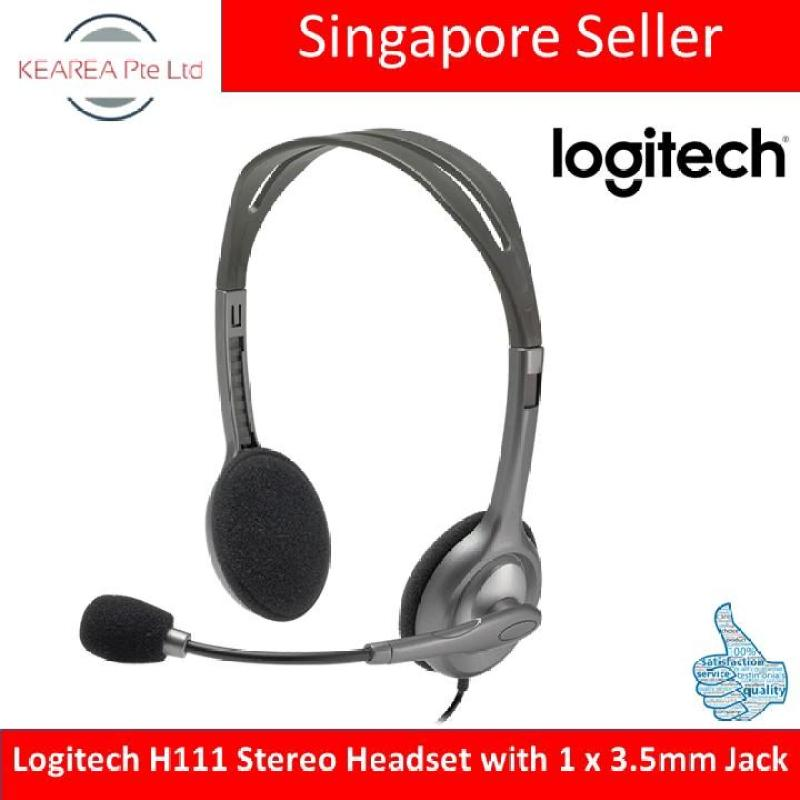 Logitech H111 Stereo Headset with 1 x 3.5mm Jack Singapore