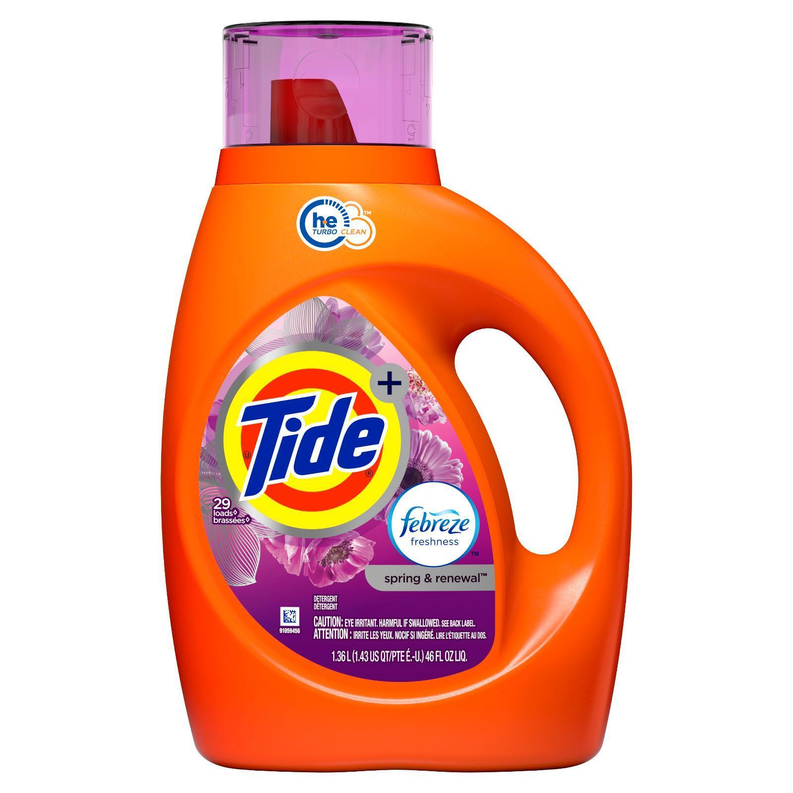 Tide Febreze Freshness Spring & Renewal Scent HE Liquid Laundry Detergent