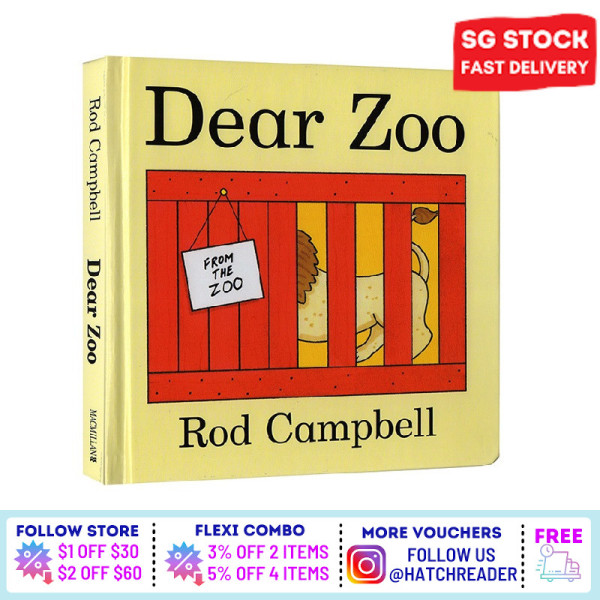 [SG Stock] Dear Zoo : A Lift-the-Flap Book English for children child kids baby 0 1 2 3 4 5 6 years old learning sensory play flash card picture