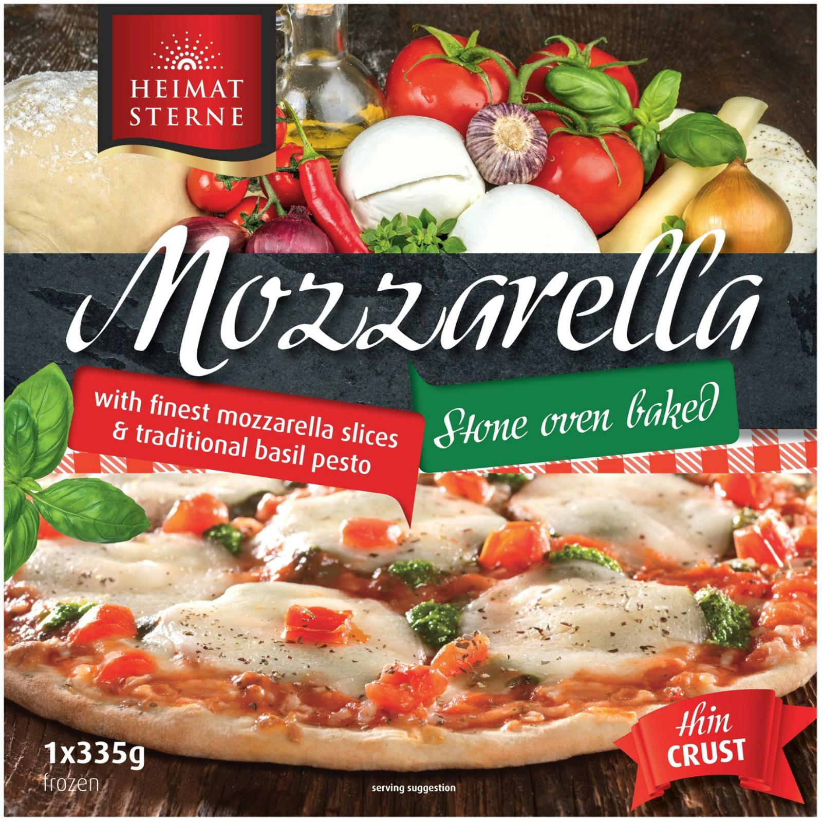 Heimatsterne Mozzarella Thin Crust Pizza - Frozen By Redmart.