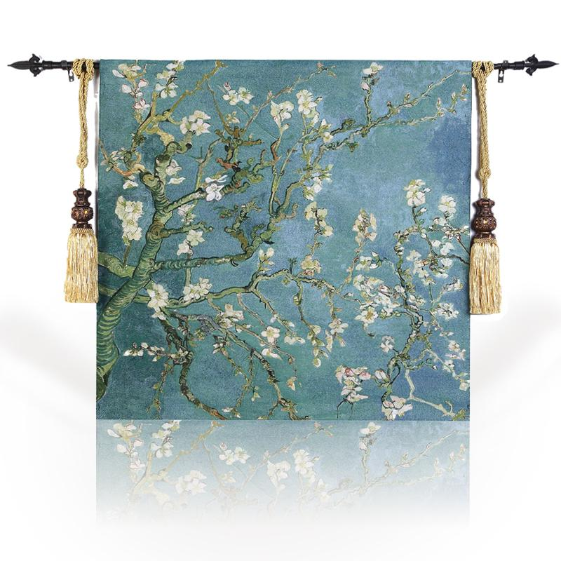 Belgium Tapestry/Decorative Blankets/Curtain/European Style Tapestry/Fashion Tapestry/Wall Carpet/Blossoming Almond Tree