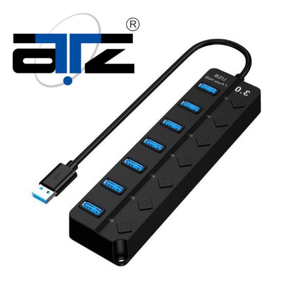 ATZ USB 3.0 7-Ports HUB with switch+LED, 7 port USB Hub, USB 7 port Hub, USB HUB