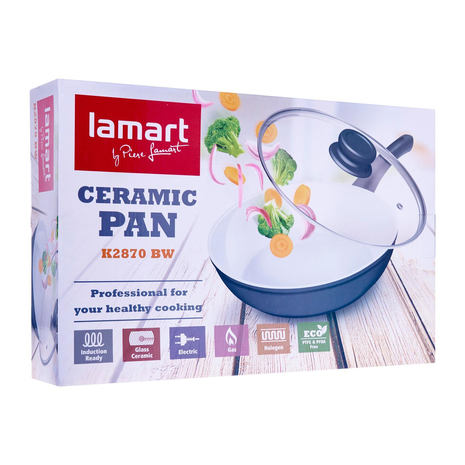 Lamart Induction Ready Ceramic Pan With Glass Lid 28/7Cm