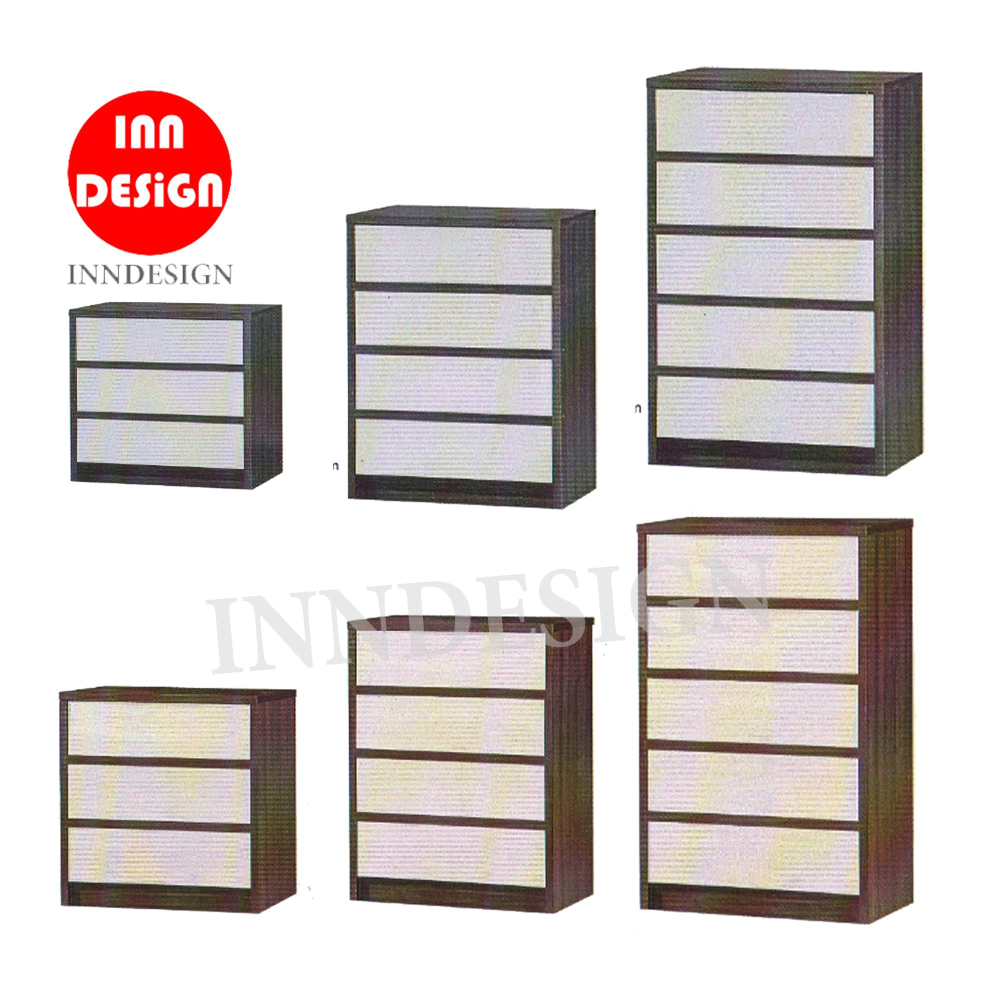 Keslyn Chest of Drawer (Choice of 3/4/5 Tier) (FREE DELIVERY AND INSTALLATION)