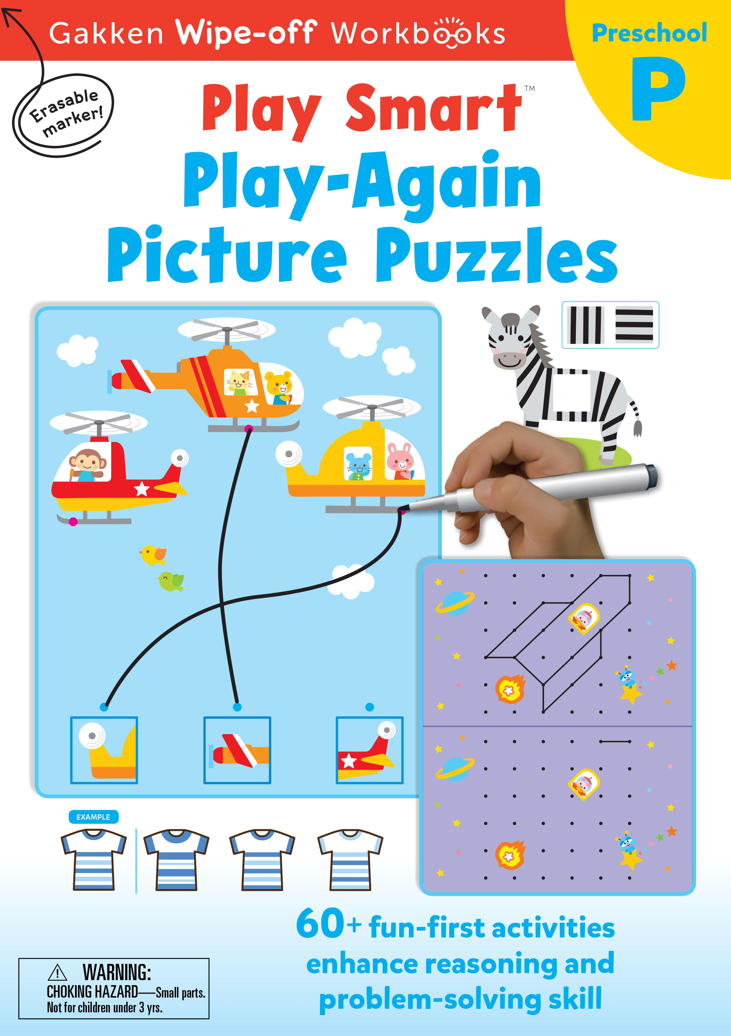PlaySmart : Wipe&Off Play Again Picture Puzzles