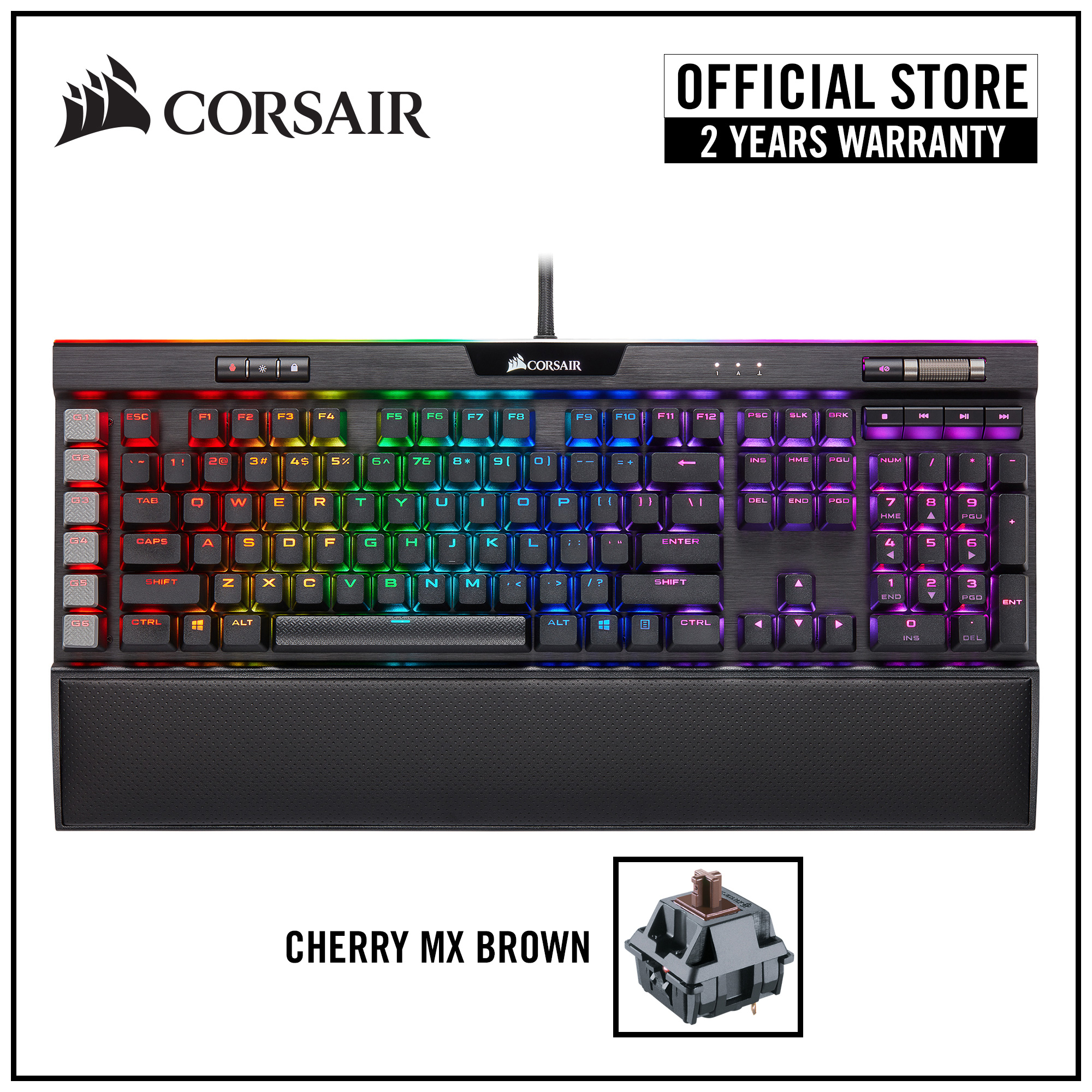 [NEW] CORSAIR K95 RGB PLATINUM XT Mechanical Gaming Keyboard (Black) — Cherry MX Brown RGB Singapore