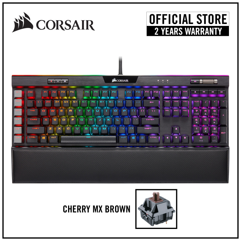 [NEW] CORSAIR K95 RGB PLATINUM XT Mechanical Gaming Keyboard (Black) — Cherry MX Brown RGB Singapore