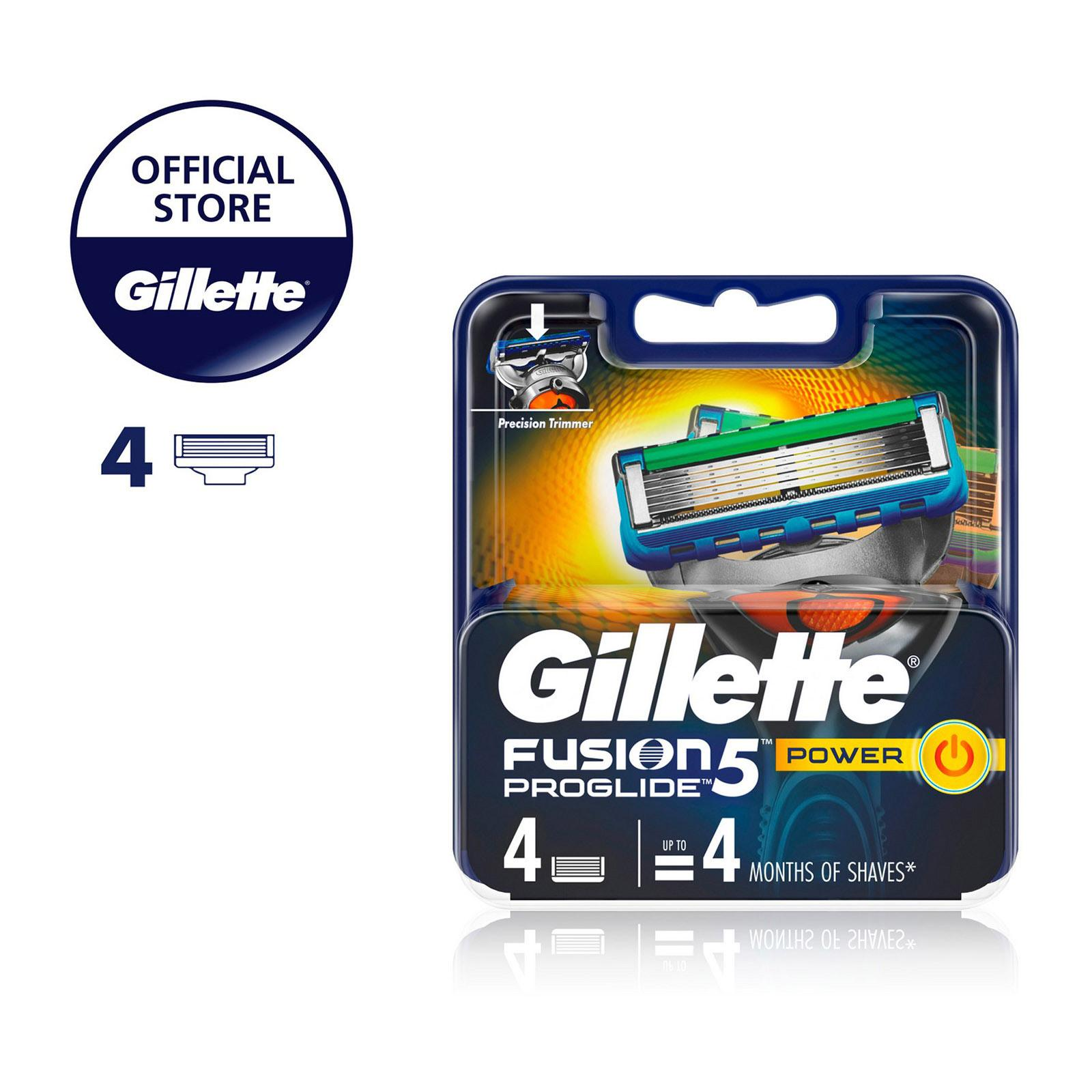 Gillette Fusion5 ProGlide Power Razor Cartridge Refills - 4PCS