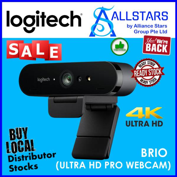 (ALLSTARS : We are Back / Conference Promo) LOGITECH BRIO 4K Ultra HD Webcam (960-001105) (Warranty 3years with BanLeong)