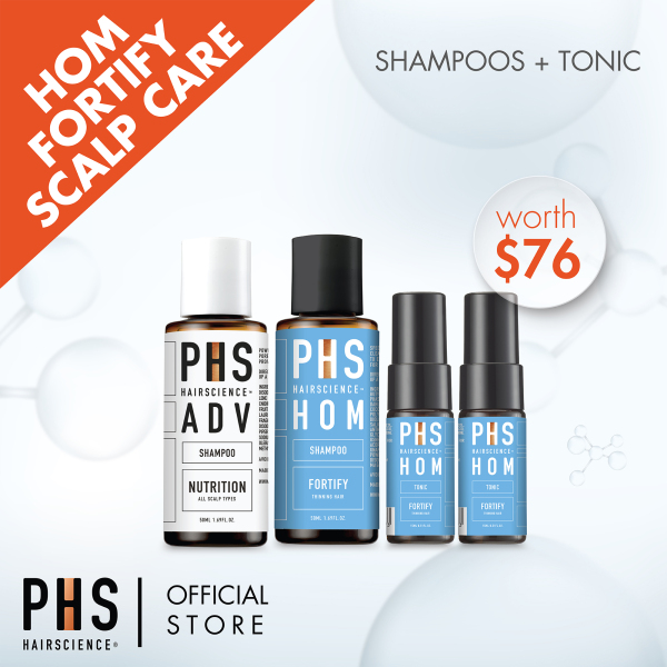 Buy PHS Hairscience HOM Fortify Scalp Care Mini Kit (Worth SGD 76) Singapore