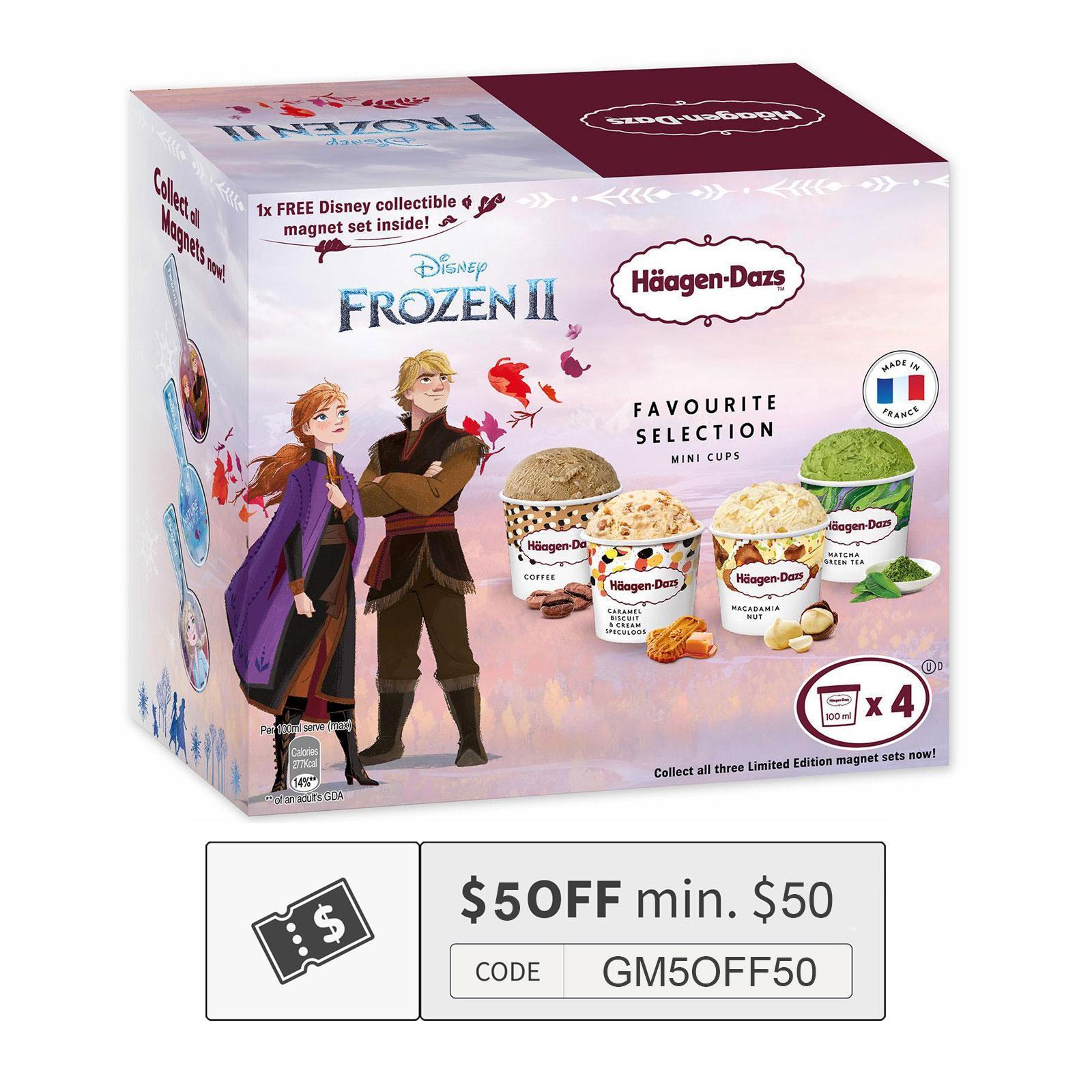 Haagen-Dazs Disney Frozen Favourite Selection Ice Cream