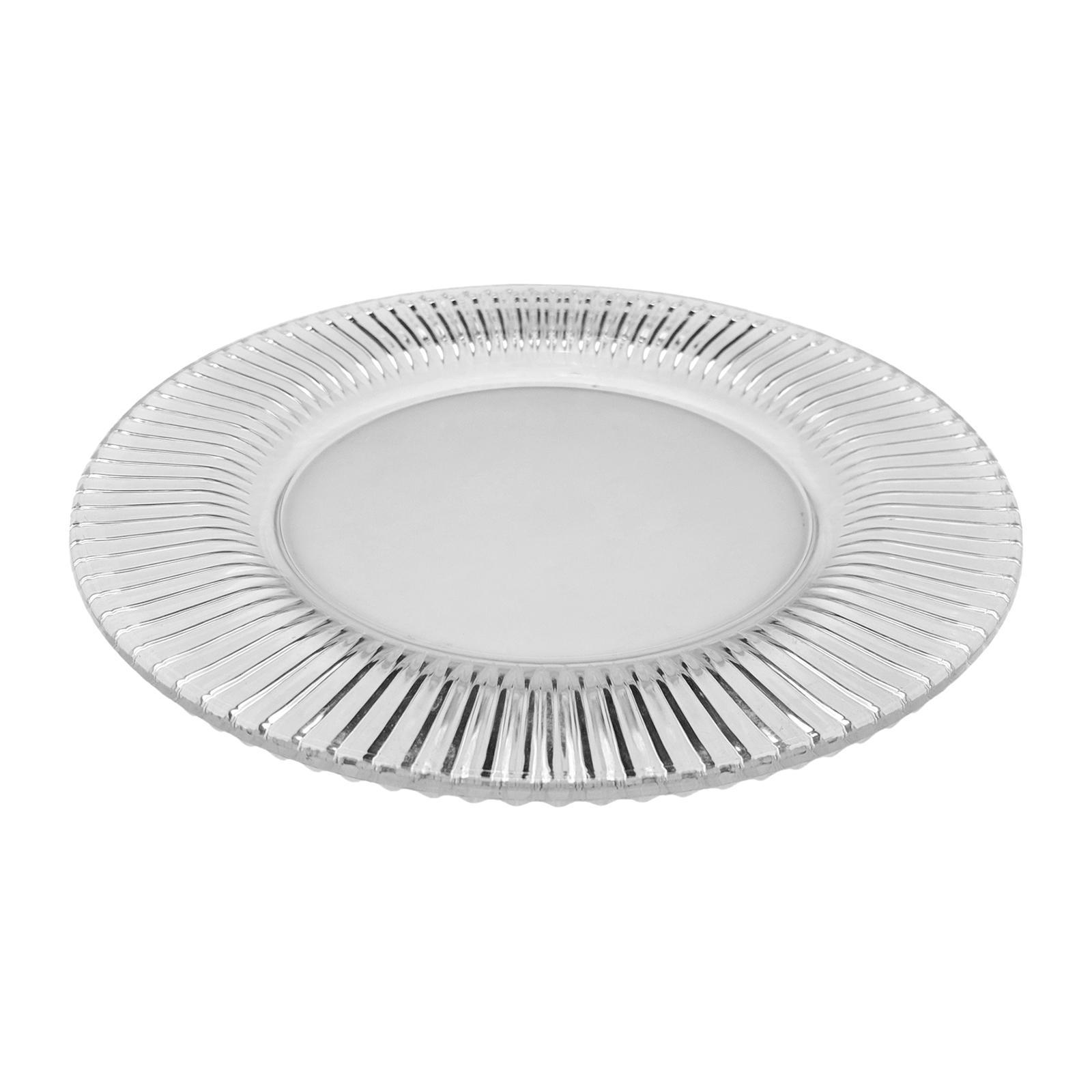 Soga Frosted Glass Plate 23 CM