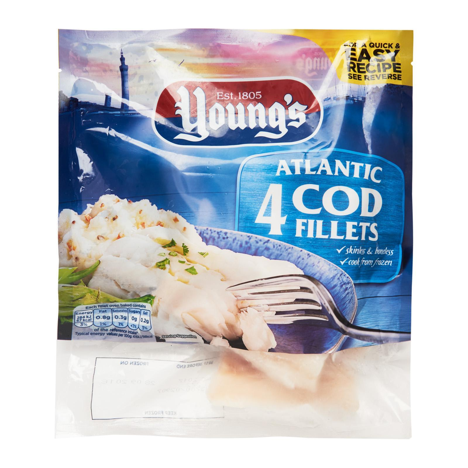Young's 4 Atlantic Cod Fillets - Frozen