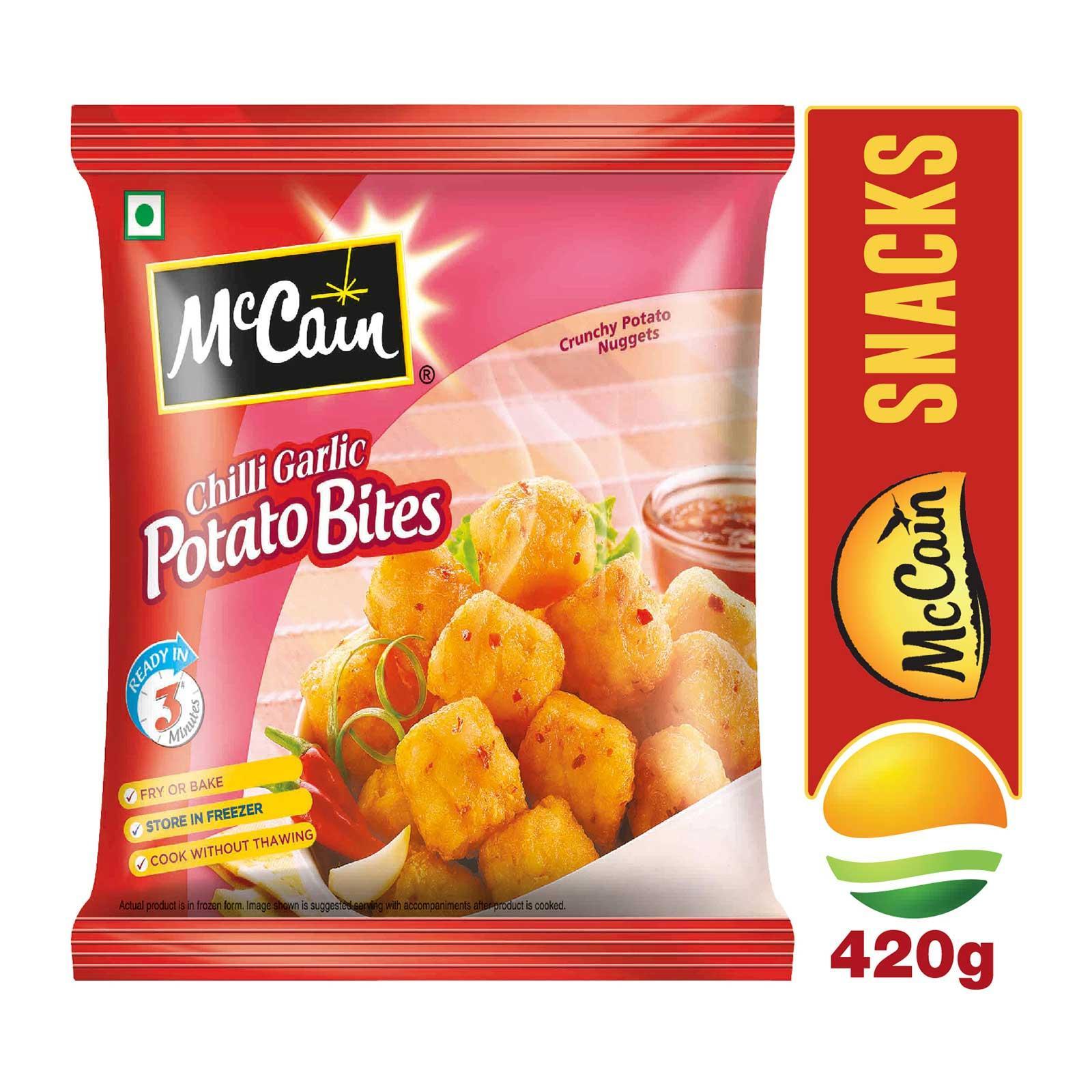 McCain Chilli Garlic Potato Bites (Croquettes) - Frozen - By Sonnamera