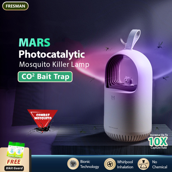 MARS Photocatalytic Mosquito Killer Lamp With Mosquito Attractant Power Suction Insect Trap, USB Power Bionic UV Lamp