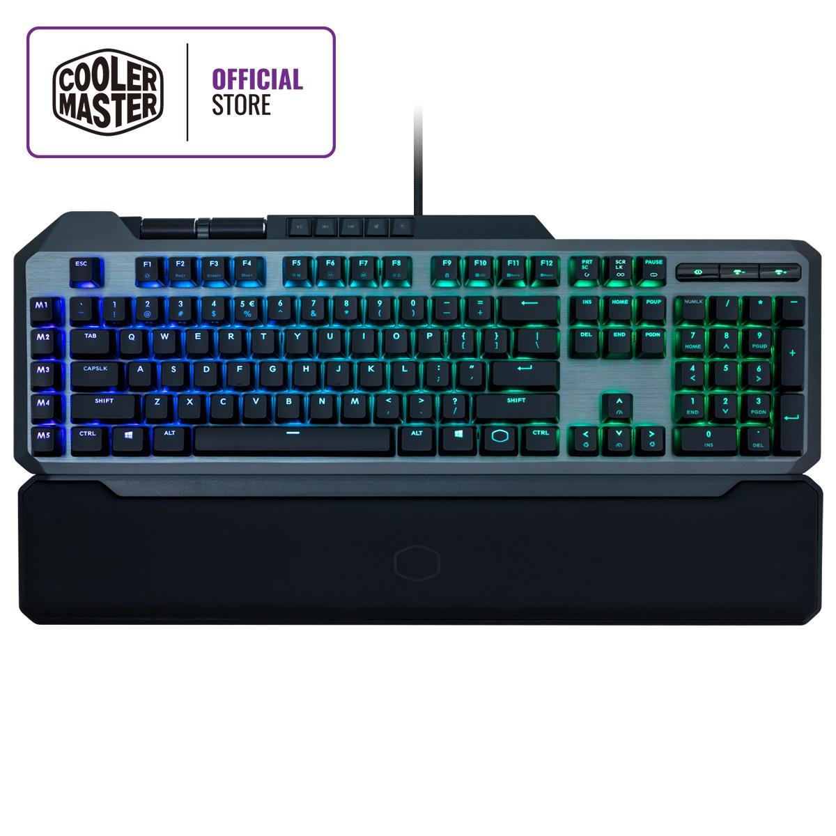 Cooler Master MK850 Cherry MX RGB Mechanical Gaming Keyboard with Aimpad™ Pressure Sensitive Technology, Dedicated Macro Keys, Dedicated Media Keys & 2 Precision Wheels, RGB Lightbar, Magnetic Wrist Rest  (Full Layout with Macros / 109 Keys) Singapore