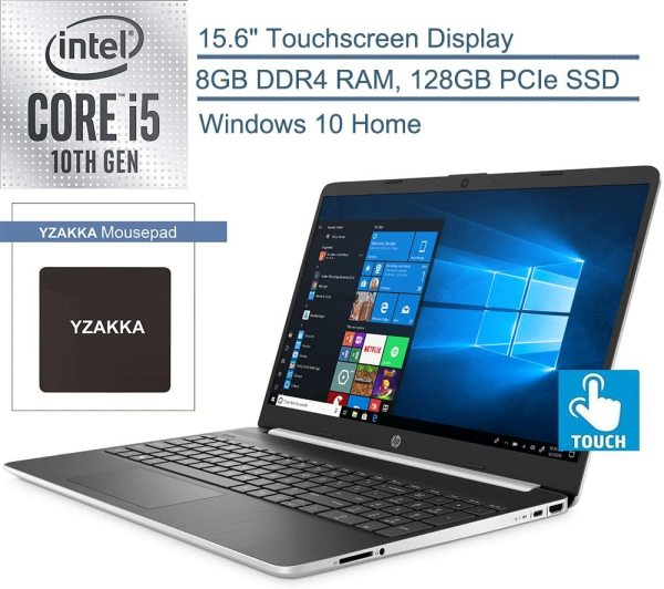 New 2020 HP 15.6 HD Touchscreen Laptop Intel Core i7-1065G7 8GB DDR4 RAM 512GB SSD HDMI 802.11b/g/n/ac Windows 10 Silver 15-dy1771ms
