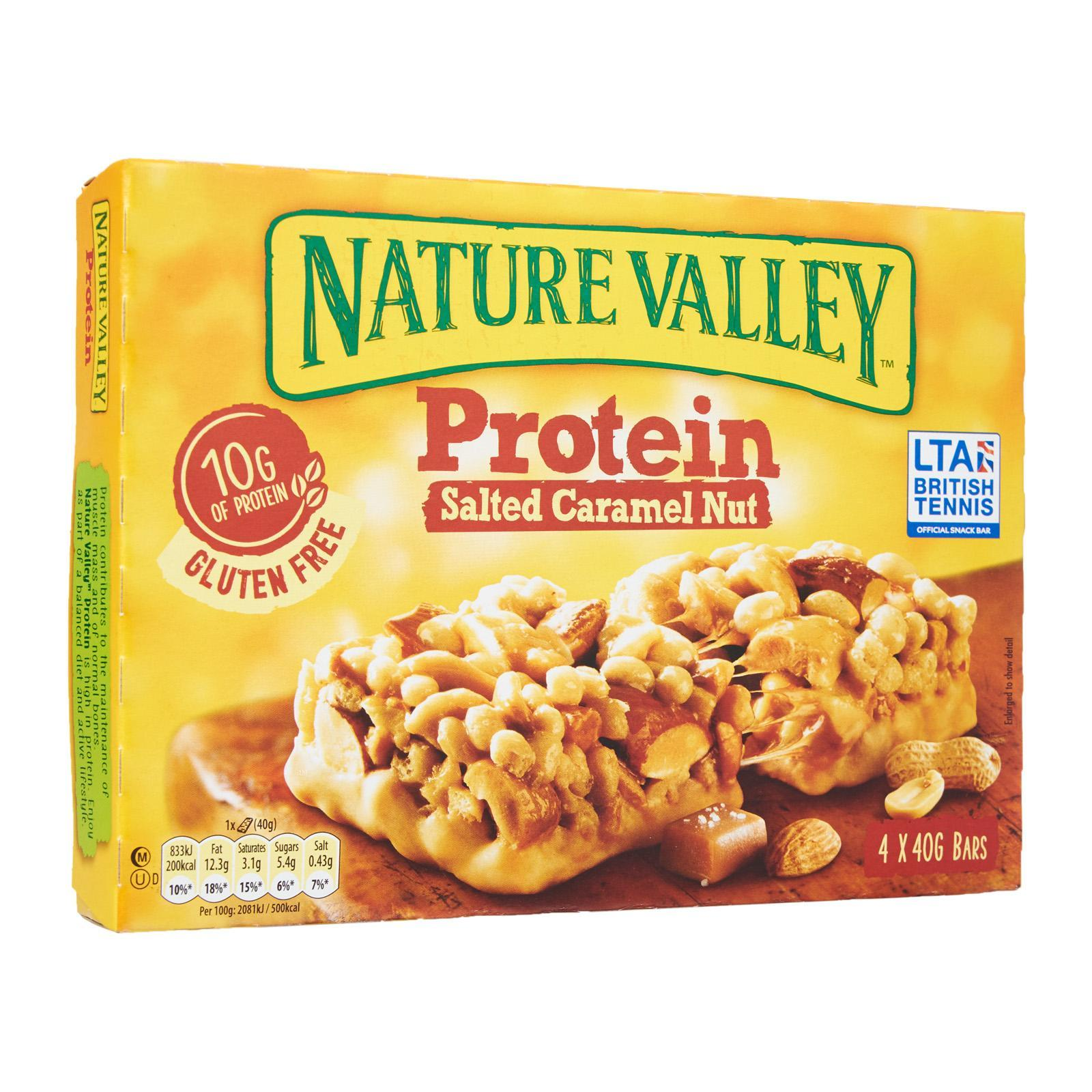 Nature Valley Gluten Free Protein Salted Caramel Nut Chewy Bars By Redmart.