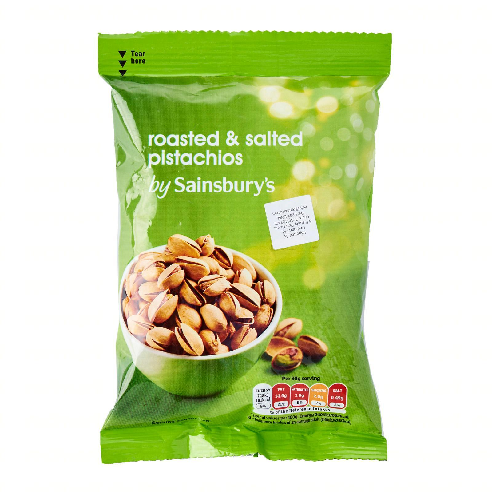 Sainsbury's Roasted And Salted Pistachios